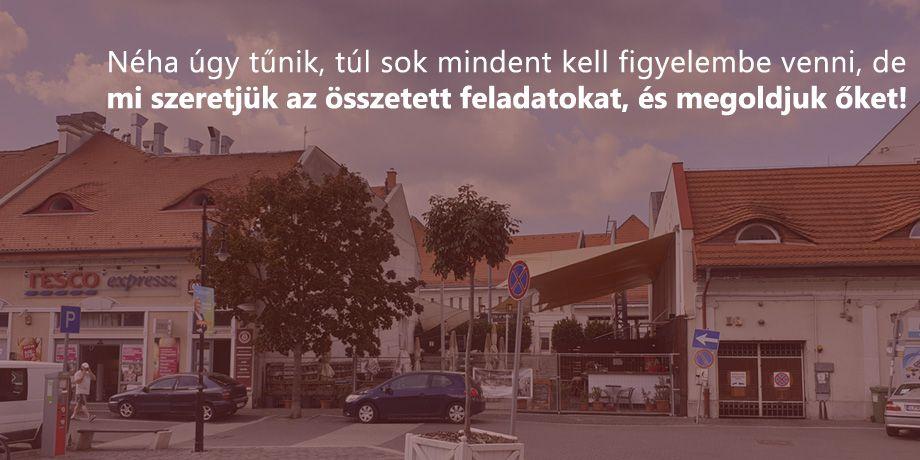 vegyes rendeltetésü épület építészeti és generáltervezése vendéglátóhellyel, üzletekkel, irodával és lakással Budapesten